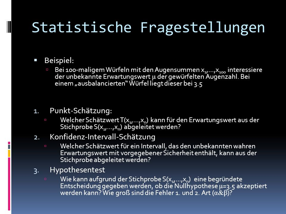 Statistische Fragestellungen