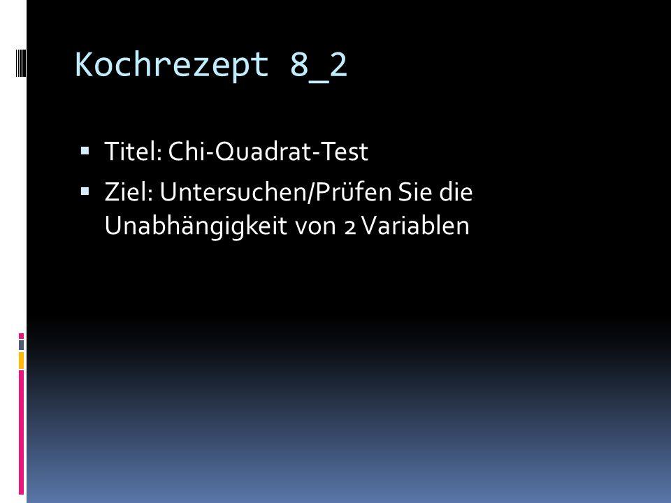 Kochrezept 8_2 Titel: Chi-Quadrat-Test
