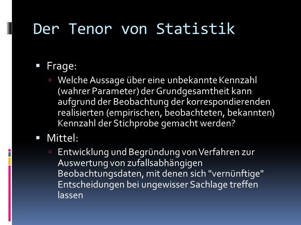 Der Tenor von Statistik