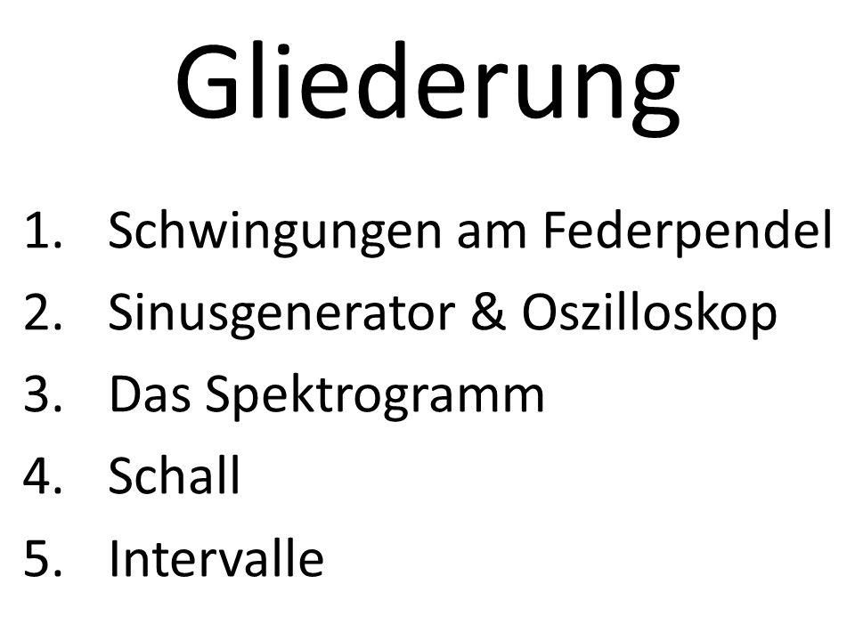 Gliederung Schwingungen am Federpendel Sinusgenerator & Oszilloskop