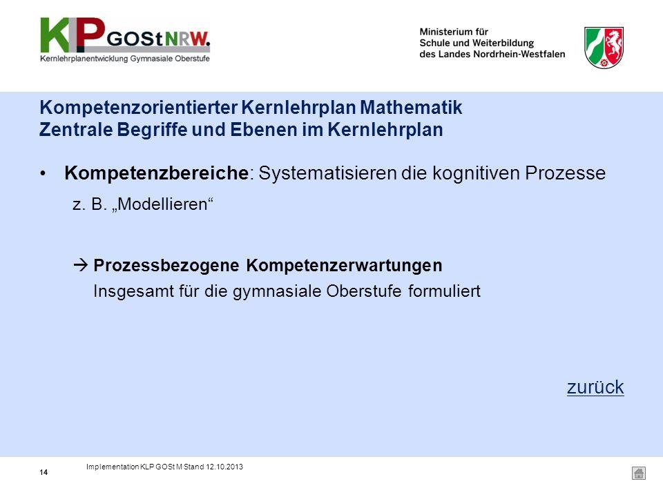 Kompetenzbereiche: Systematisieren die kognitiven Prozesse