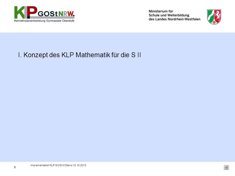 I. Konzept des KLP Mathematik für die S II