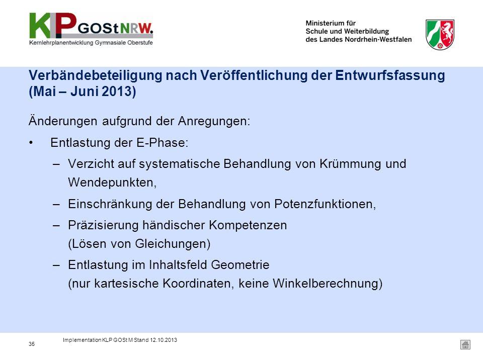 Verbändebeteiligung nach Veröffentlichung der Entwurfsfassung (Mai – Juni 2013)