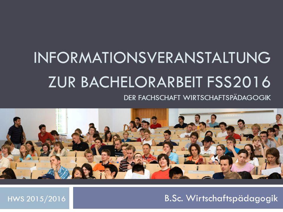 B.Sc. Wirtschaftspädagogik
