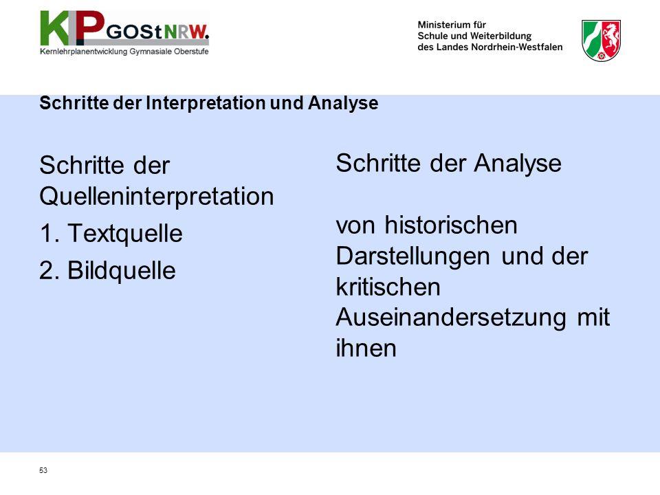 Schritte der Interpretation und Analyse