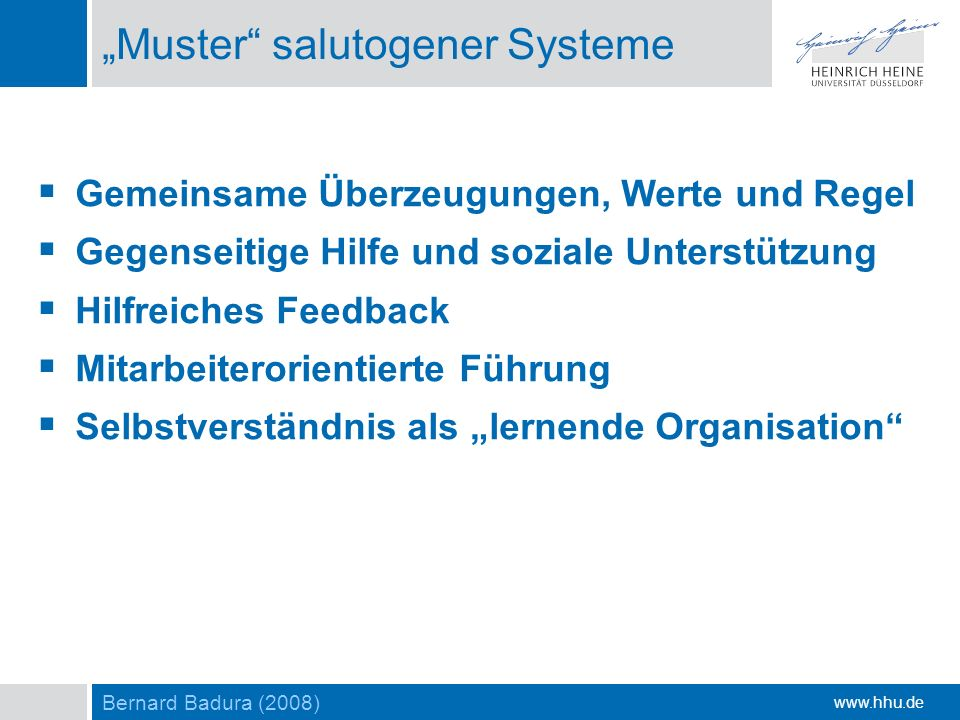 """Muster salutogener Systeme"