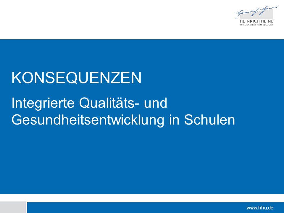 Integrierte Qualitäts- und Gesundheitsentwicklung in Schulen