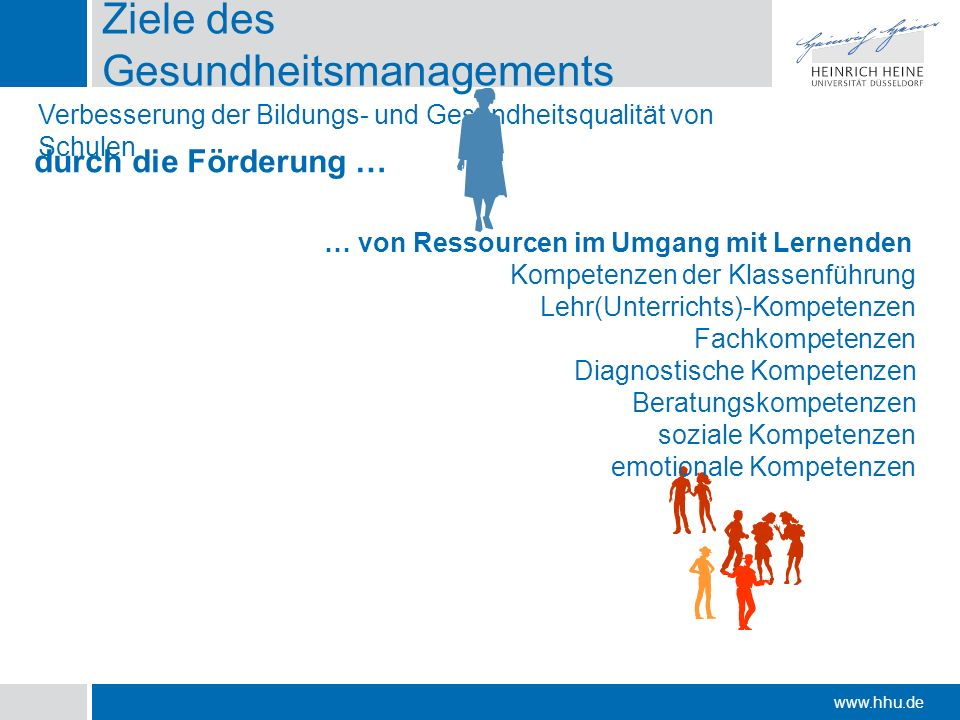 Ziele des Gesundheitsmanagements