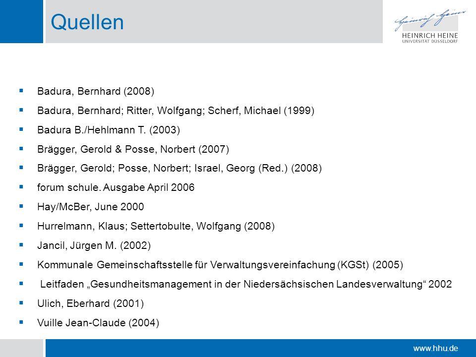Quellen Badura, Bernhard (2008)