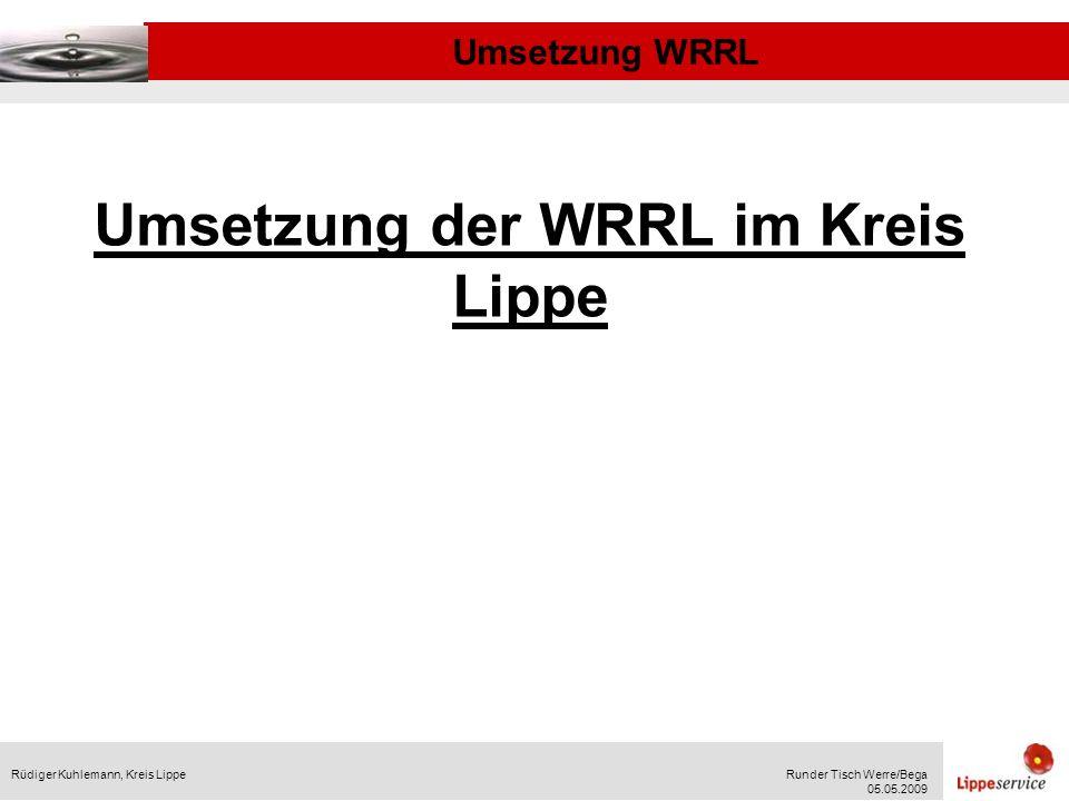 Umsetzung der WRRL im Kreis Lippe