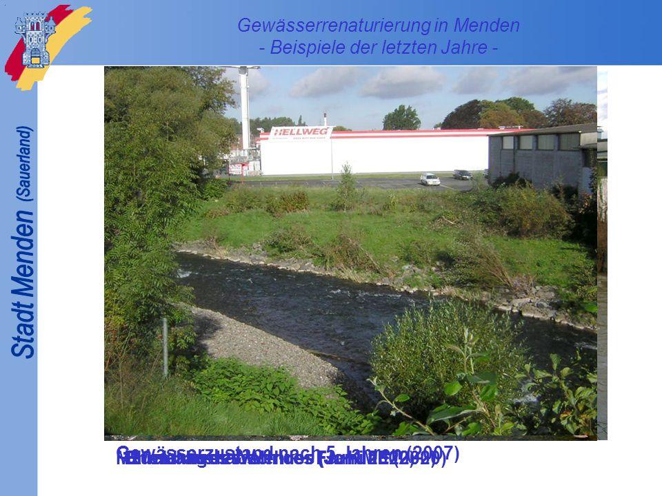 Gewässerrenaturierung in Menden - Beispiele der letzten Jahre -