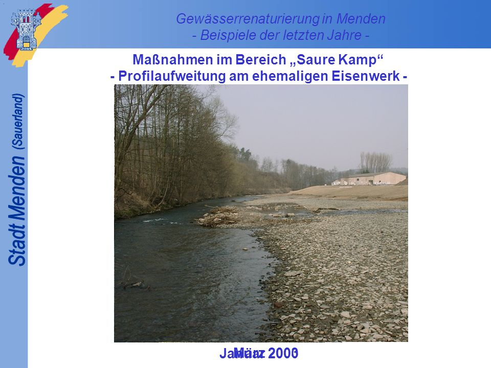 Gewässerrenaturierung in Menden - Beispiele der letzten ...