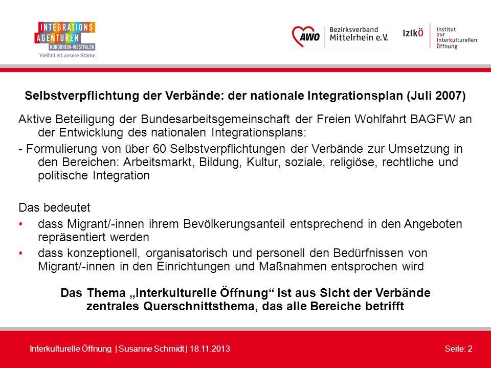 """Das Thema """"Interkulturelle Öffnung ist aus Sicht der Verbände"""