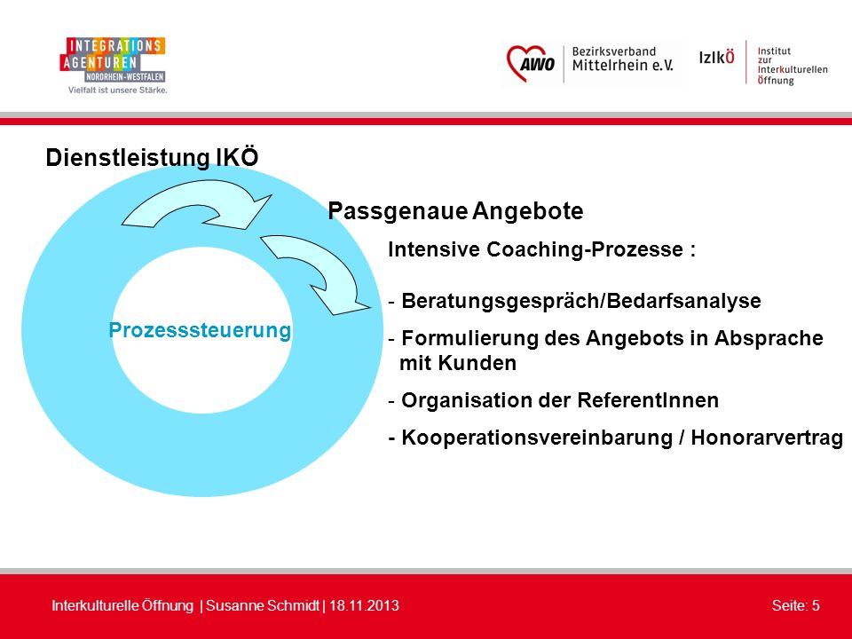 Dienstleistung IKÖ Passgenaue Angebote Intensive Coaching-Prozesse :