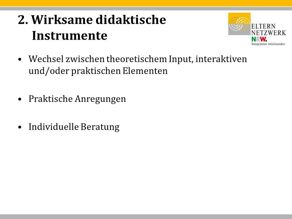 2. Wirksame didaktische Instrumente
