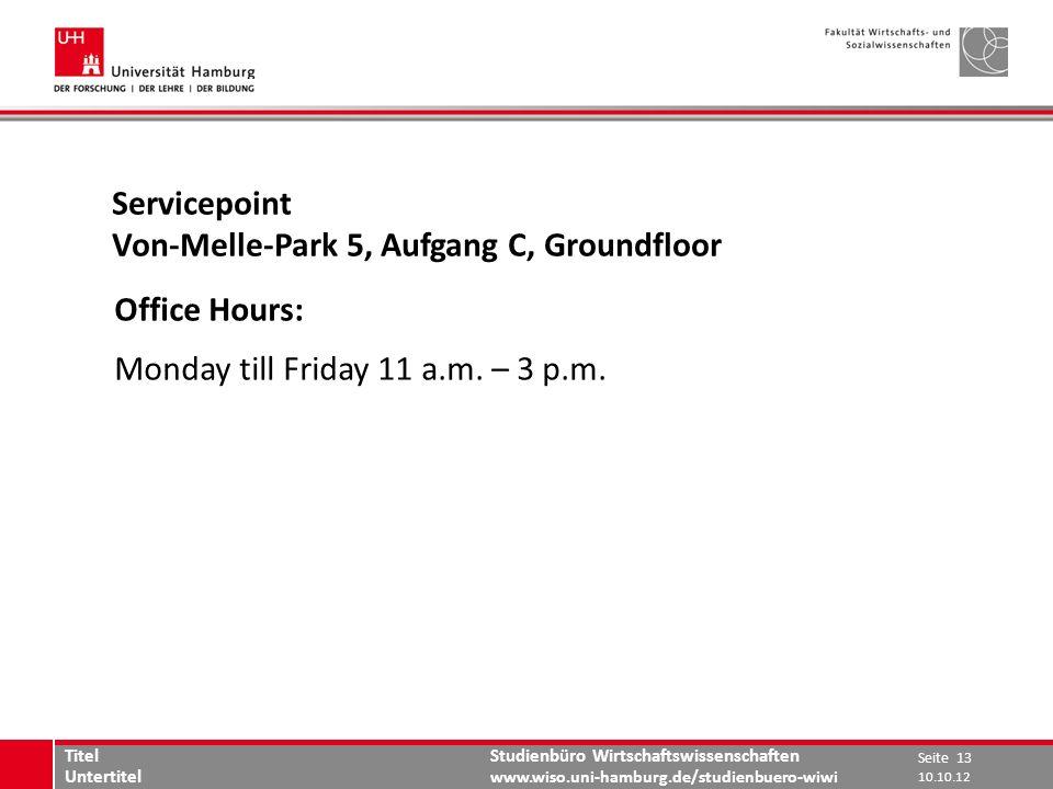 Von-Melle-Park 5, Aufgang C, Groundfloor