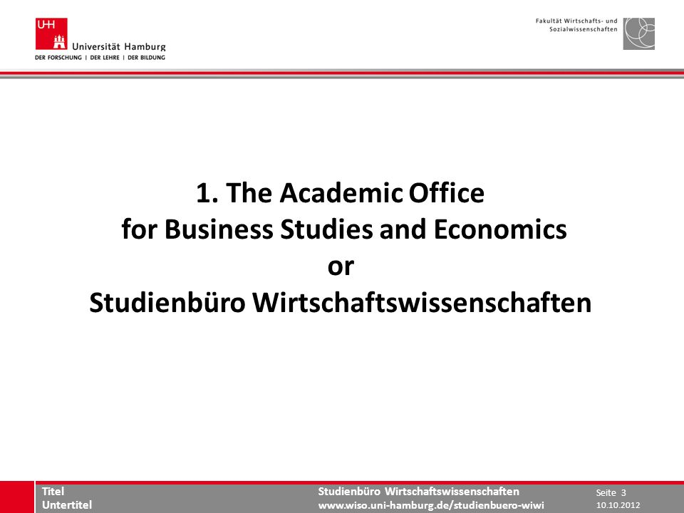 for Business Studies and Economics or