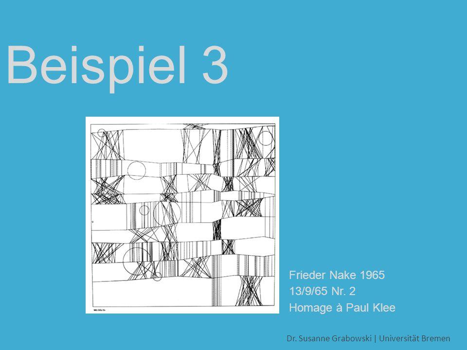 Frieder Nake 1965 13/9/65 Nr. 2 Homage à Paul Klee