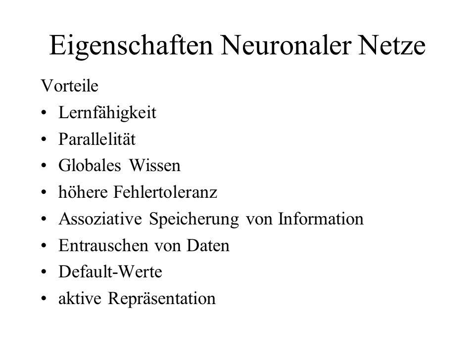 Eigenschaften Neuronaler Netze