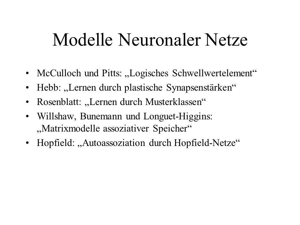 Modelle Neuronaler Netze
