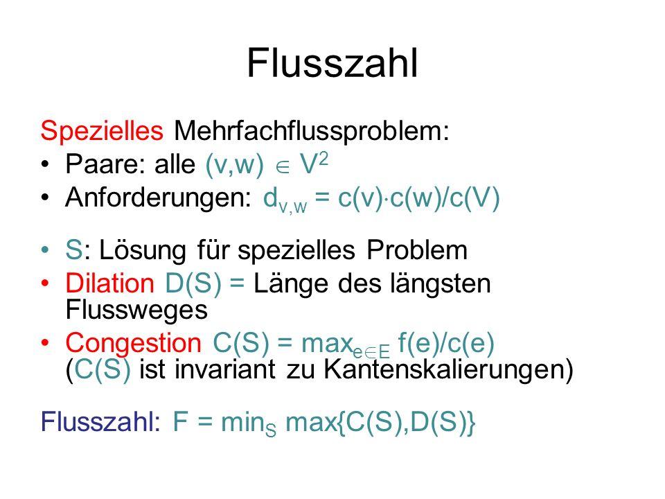 Flusszahl Spezielles Mehrfachflussproblem: Paare: alle (v,w)  V2