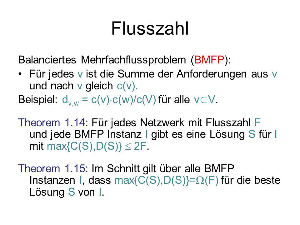 Flusszahl Balanciertes Mehrfachflussproblem (BMFP):