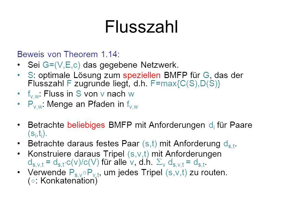 Flusszahl Beweis von Theorem 1.14: