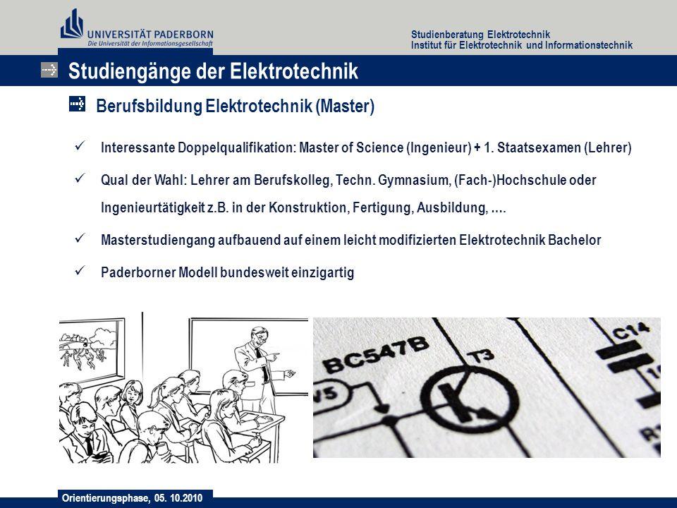 Studiengänge der Elektrotechnik