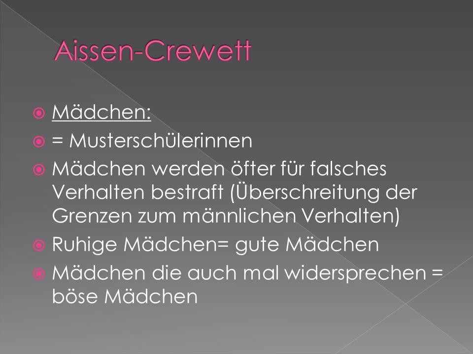Aissen-Crewett Mädchen: = Musterschülerinnen