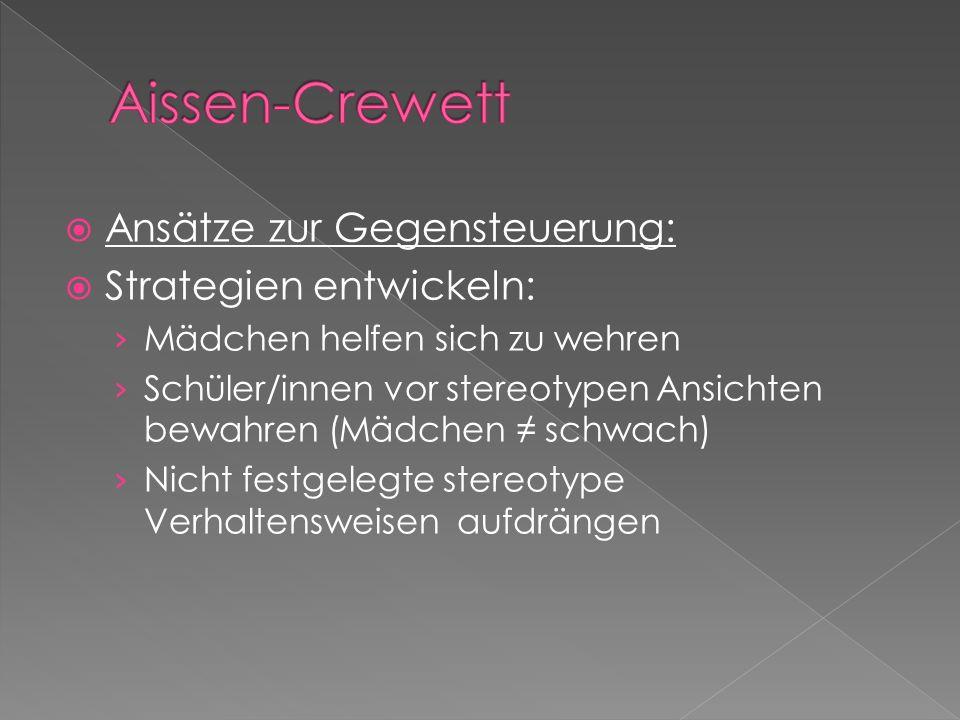 Aissen-Crewett Ansätze zur Gegensteuerung: Strategien entwickeln: