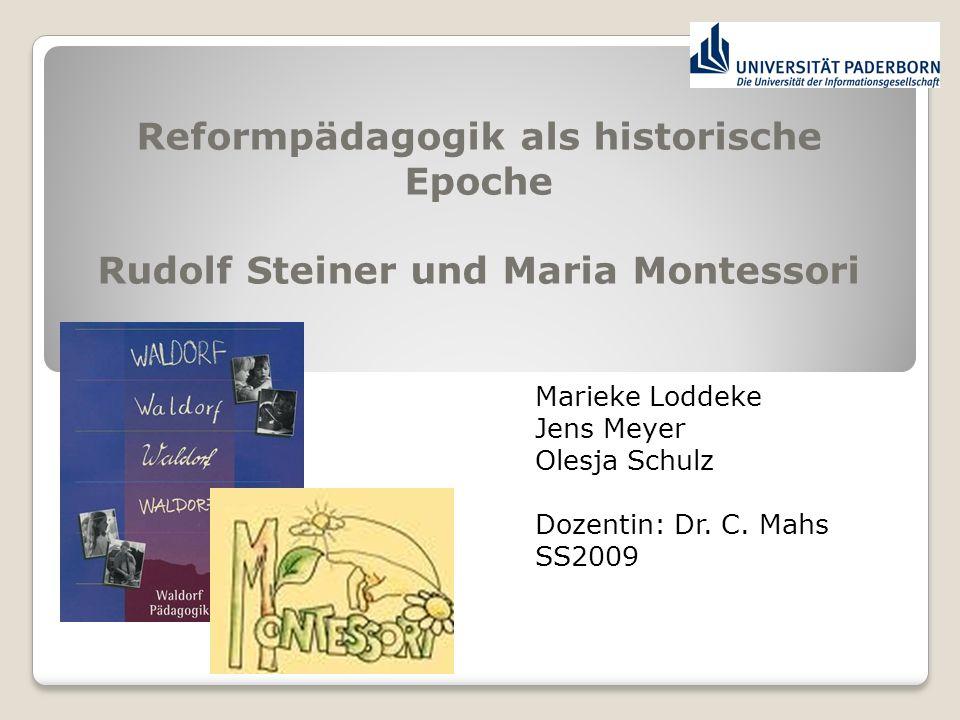 Reformpädagogik als historische Epoche