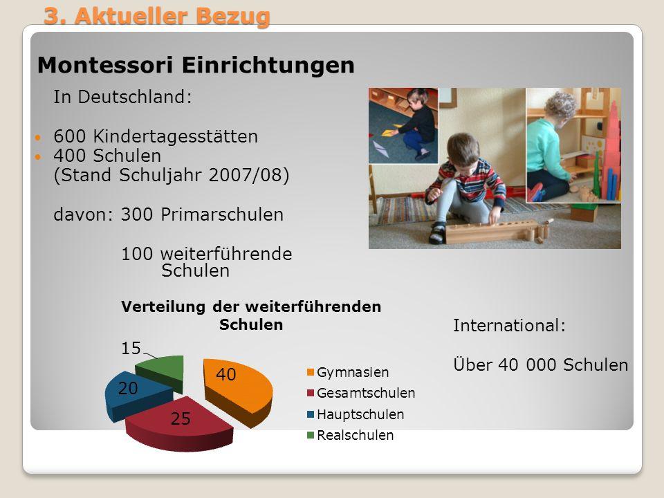 Montessori Einrichtungen
