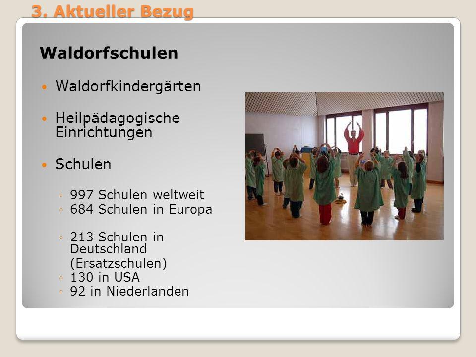 3. Aktueller Bezug Waldorfschulen Waldorfkindergärten