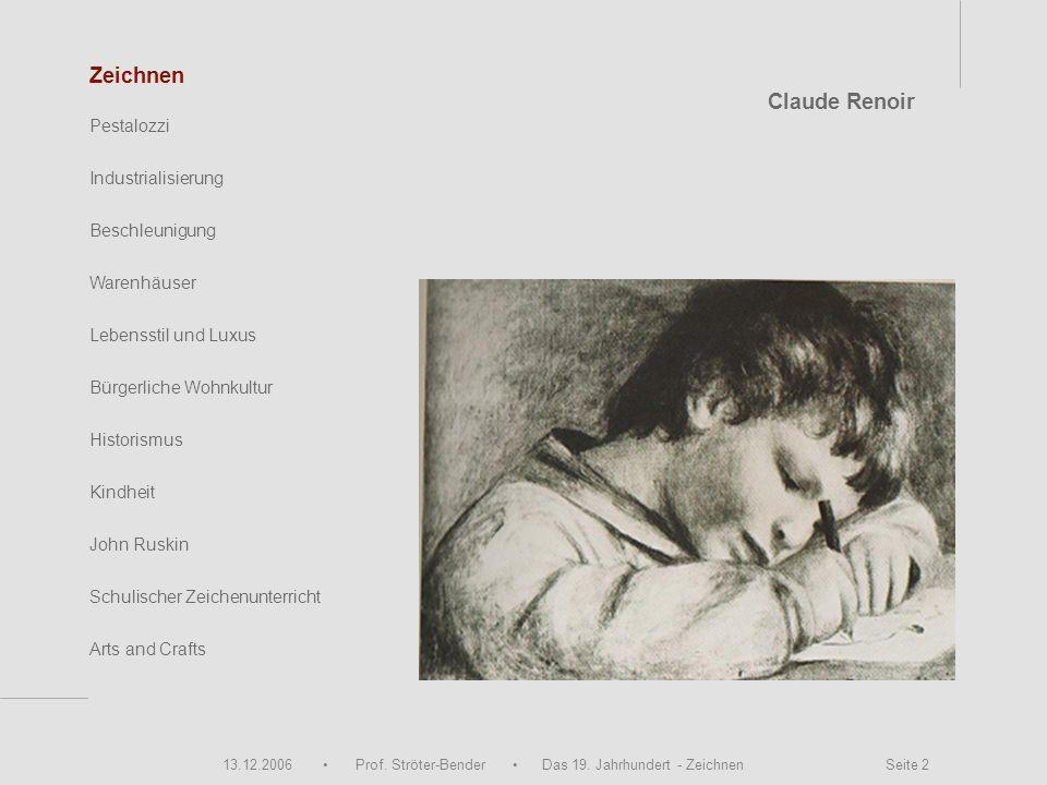 Zeichnen Claude Renoir Pestalozzi Industrialisierung Beschleunigung