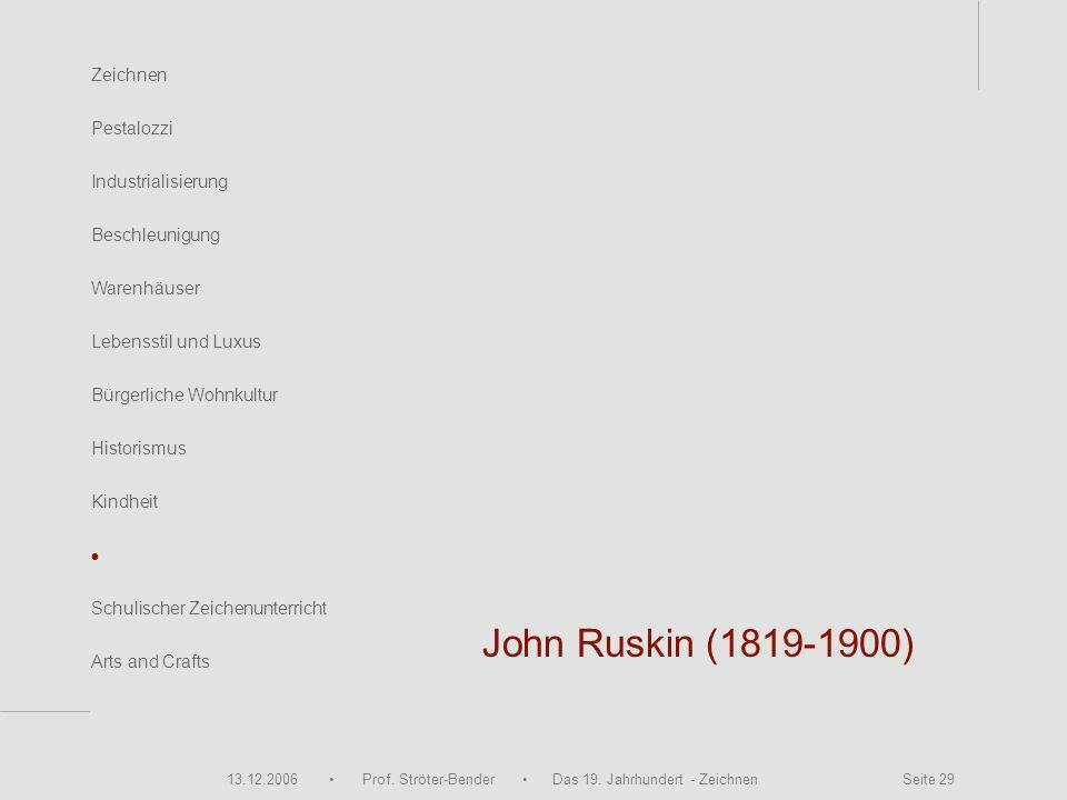 John Ruskin (1819-1900) • Zeichnen Pestalozzi Industrialisierung