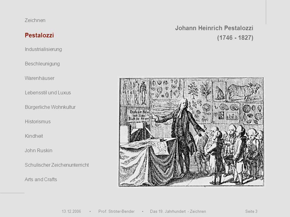 Johann Heinrich Pestalozzi (1746 - 1827) Pestalozzi