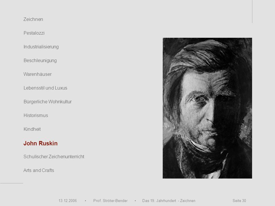 John Ruskin Zeichnen Pestalozzi Industrialisierung Beschleunigung