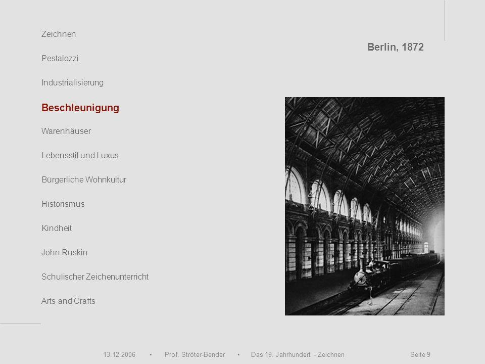 Berlin, 1872 Beschleunigung Zeichnen Pestalozzi Industrialisierung