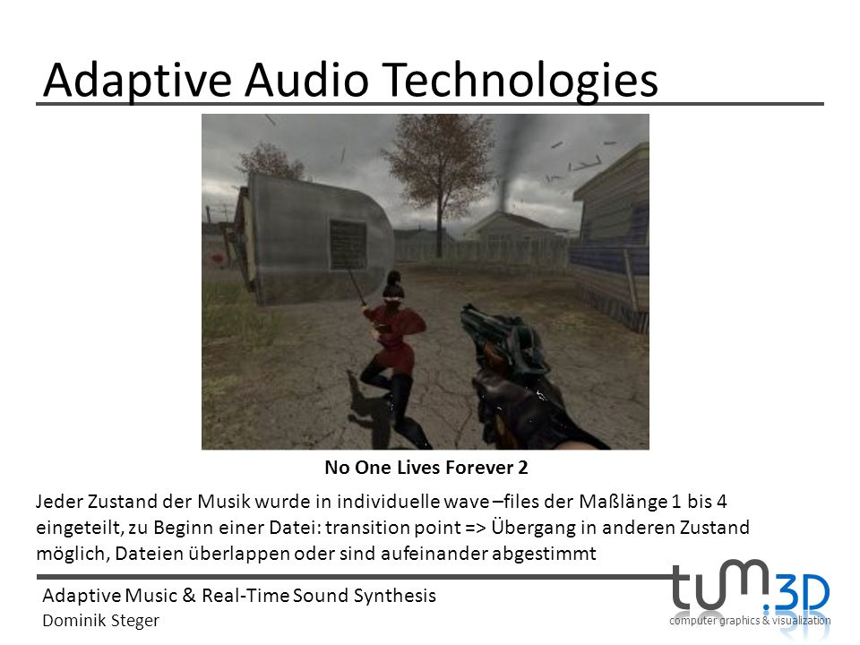 Adaptive Audio Technologies