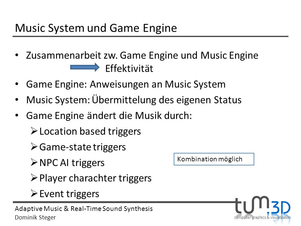 Music System und Game Engine