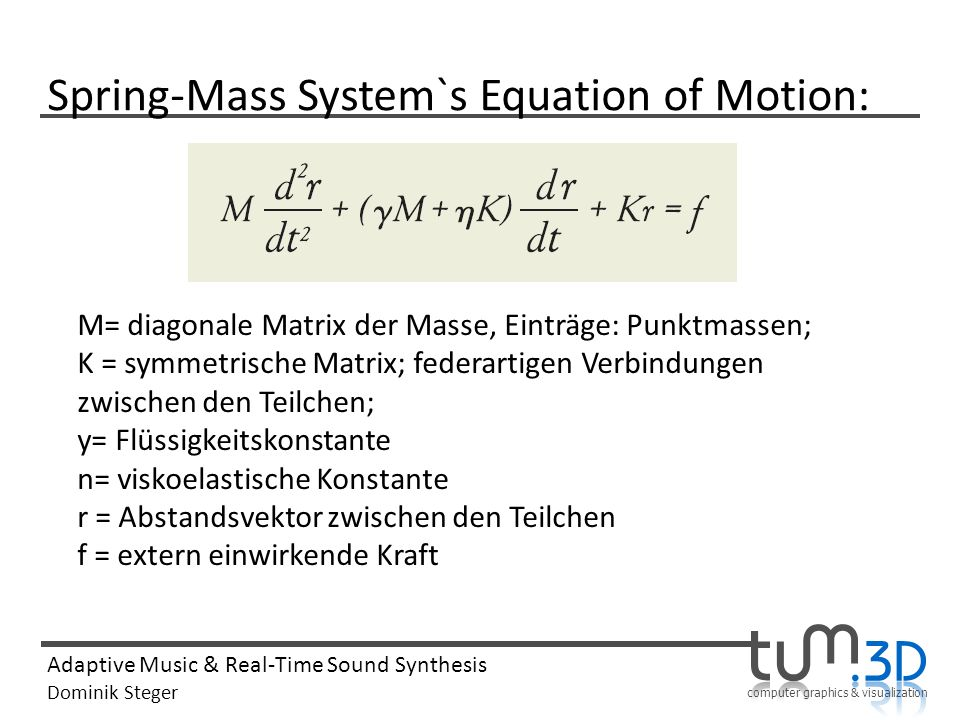 Spring-Mass System`s Equation of Motion: