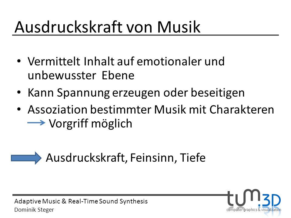 Ausdruckskraft von Musik