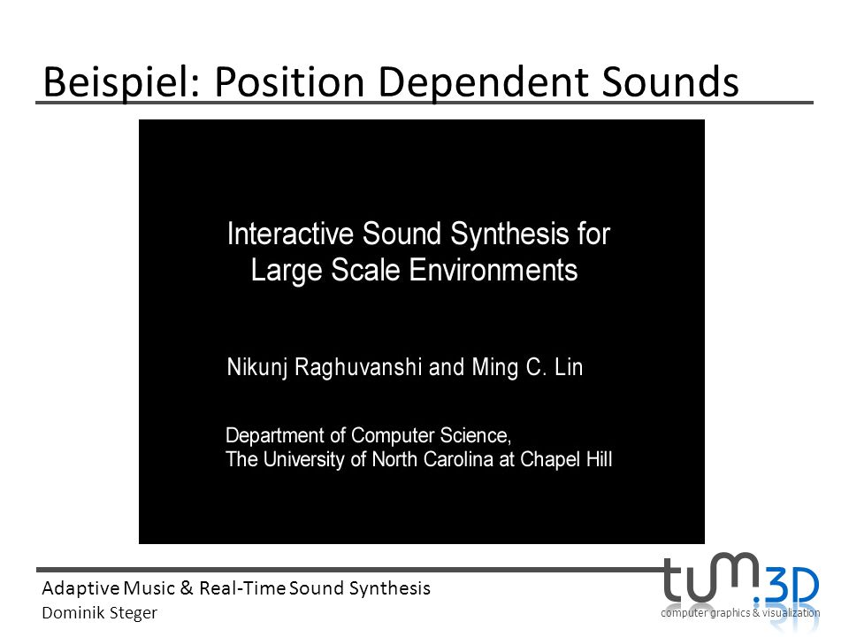 Beispiel: Position Dependent Sounds