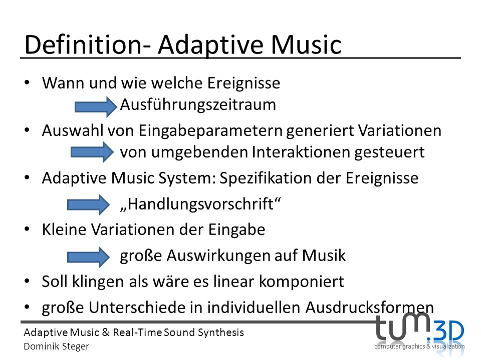 Definition- Adaptive Music