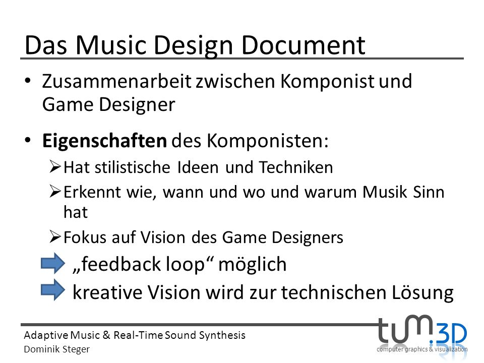 Das Music Design Document