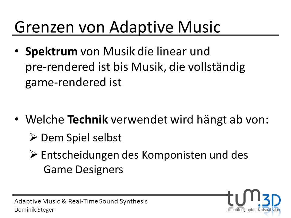Grenzen von Adaptive Music