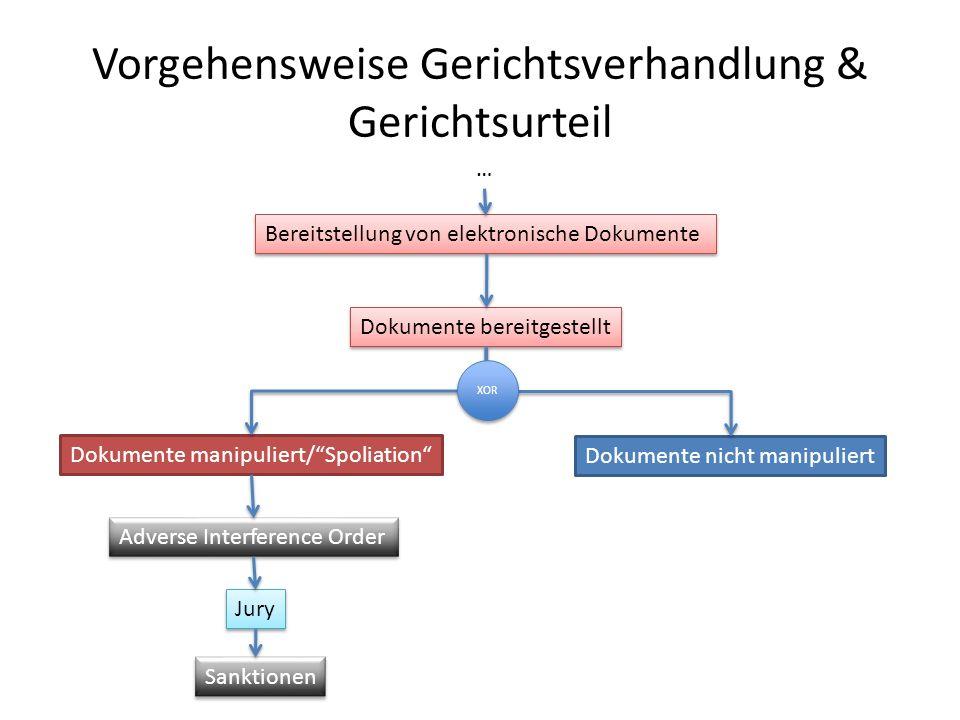 Vorgehensweise Gerichtsverhandlung & Gerichtsurteil