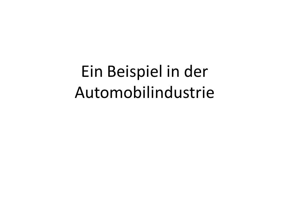 Ein Beispiel in der Automobilindustrie