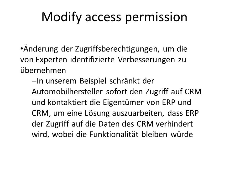 Modify access permission