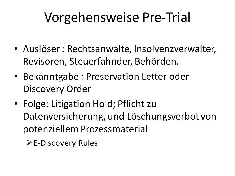 Vorgehensweise Pre-Trial